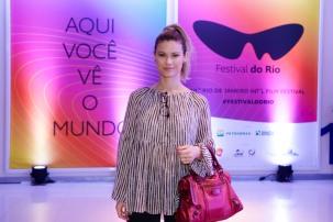 Rio de Janeiro, Brazil, 10/10/2017 Karen Junqueira na Sessao de Gala do filme O Animal Cordial no Cinepolis Lagoon no Festival do Rio 2017 - . Foto de Rogerio Resende/R2