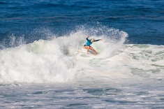 Tatiana Weston-Webb (HAW) advances to the Quarter Finals of the Women's 2018 Oi Rio Pro after placing second in Heat 4 of Round 4 at Itaúna Beach, Saquarema, Rio de Janeiro, Brazil.